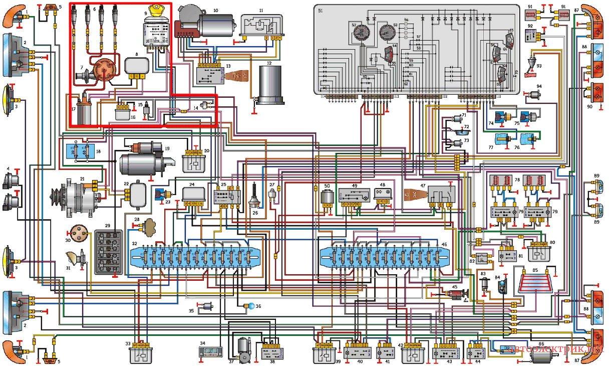 уаз 469 схема электр